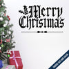 Merry Christmas -MistleToe Wall Decal
