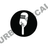 Vintage Microphone Decal, Vinyl Sticker