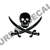 Pirate Emblem Decal, Vinyl Sticker