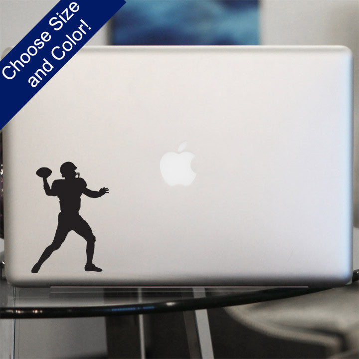 Football Quarterback Decal, Vinyl Sticker