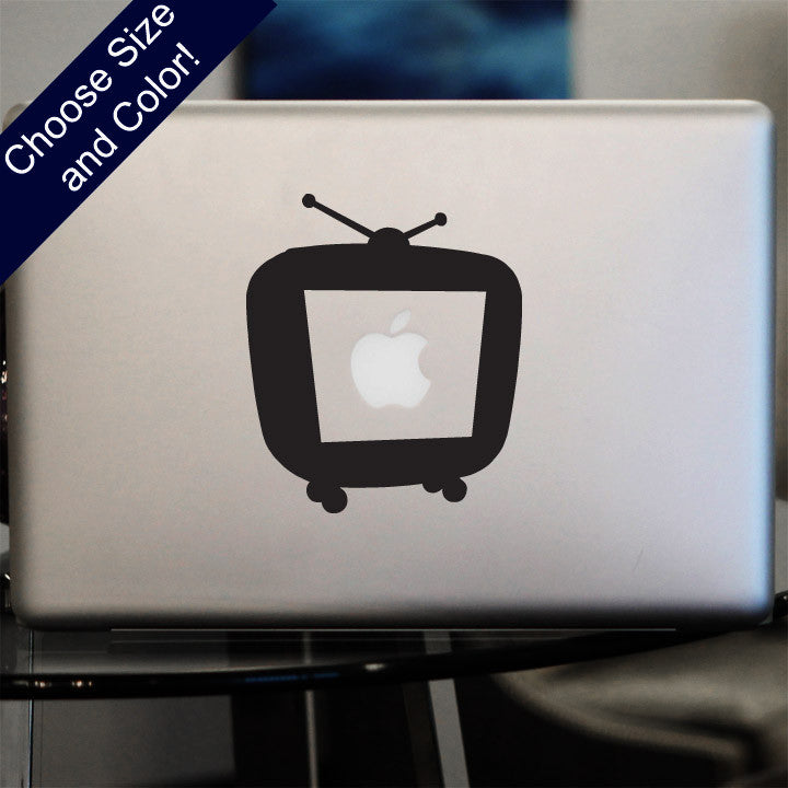 Retro Television Decal, Vinyl Sticker