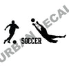 Soccer Players Wall Decal Set
