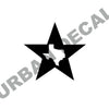 Texas in a Star Wall Decal