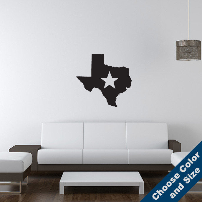 Texas Star Wall Decal