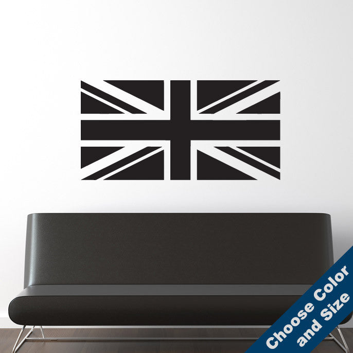 Union Jack Flag Wall Decal