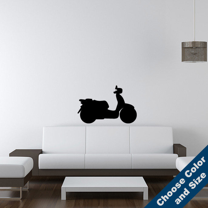 urban decal — vespa wall decal