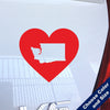 I Heart Washington State Decal