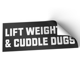 Pack of 5 Lift Weights & Cuddle Dugs Stickers