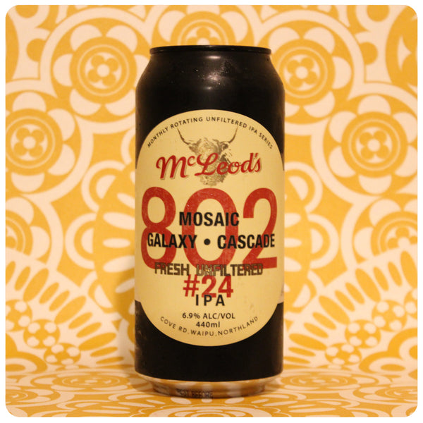McLeod's 802 #24 Fresh Unfiltered IPA