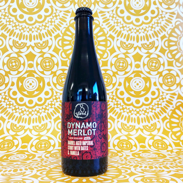 8 Wired Dynamo Merlot Barrel-Aged Imperial Stout W/ Dates & Vanilla