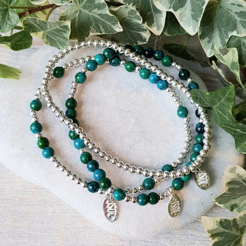 COMPLETE SET • GEMALICIOUS • 3 armbanden • Chrysocolla