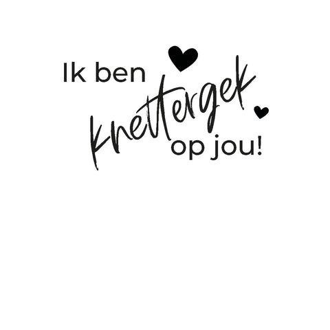 • Lovely Intention Card • 7 • Ik ben knettergek op jou!