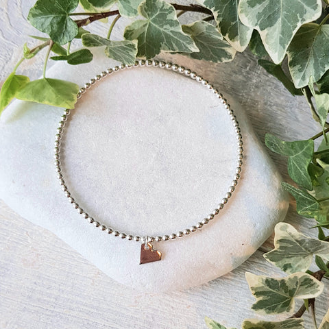 Armband • BENGEL • Bangle van pareldraad met Beautiful Soul hanger