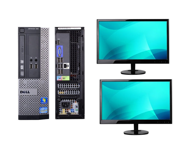 Dell 390 SFF Combo Intel i5-2400 3.1GHz 16GB Ram 256GB Solid State Hard Drive DVD 2X22