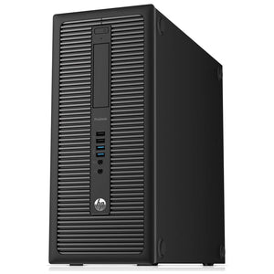 HP 600 G1 TOWER i3-4130 3.4Ghz 8 GB RAM, 1 TB HDD DVD Windows 10 Pro (Refurbished)
