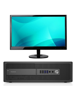 "HP 800G2 SFF Combo i5-6400 2.7Ghz 32GB Ram, 1TB Solid State Hard Drive  22"" LCD Windows 10 Pro (Refurbished)"