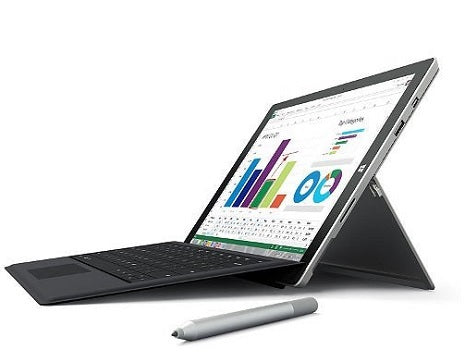MS Surface 3 Intel Intel ATOM X7-Z8700, 4 GB RAM,128 GB SSD, Windows 10 Pro (Refurbished)