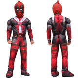 BFJFY Halloween Superhero Deadpool Cosplay Muscle Jumpsuit For Boys - bfjcosplayer