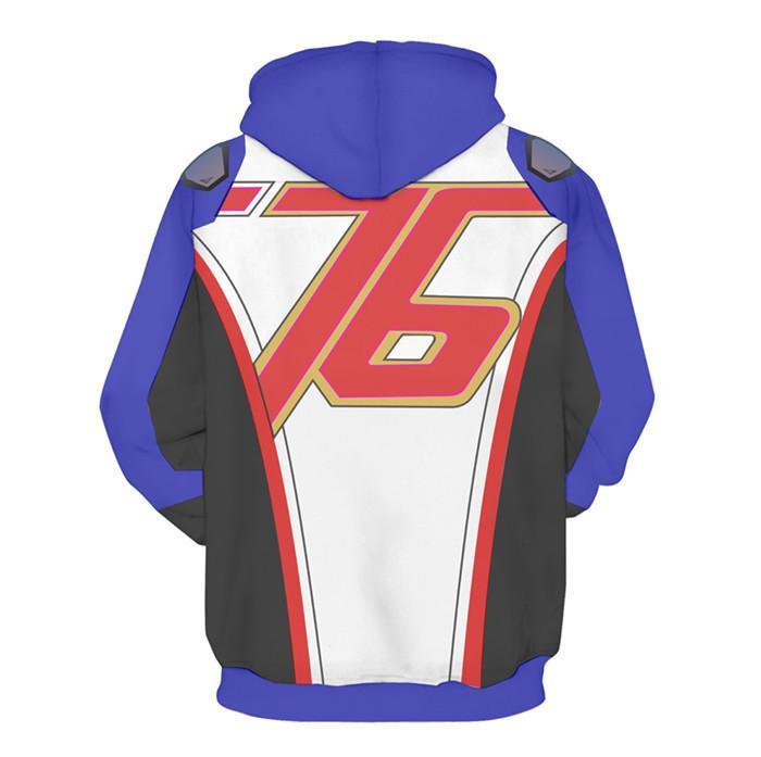 BFJmz OW Over Watch Soldier 76 3D Printing Coat Zipper Coat Leisure Sports Sweater Autumn And Winter - bfjcosplayer