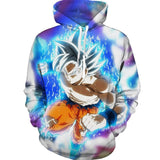 BFJmz Dragon Ball Ultra Instinct Wukong 3D Printing Coat Leisure Sports Sweater Autumn And Winter - bfjcosplayer