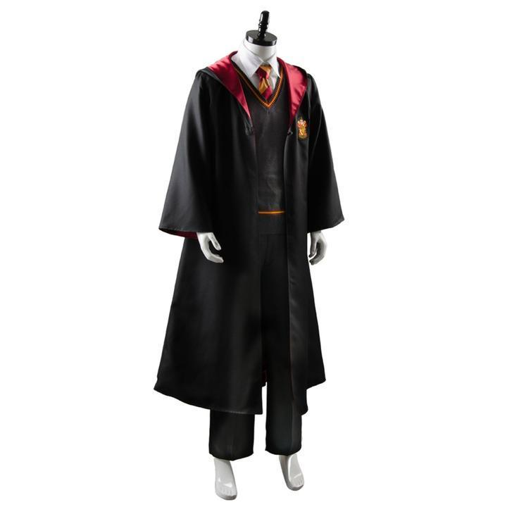 BFJFY Halloween Adult Harry Potter Gryffindor Robe Uniform Cosplay Costume - bfjcosplayer