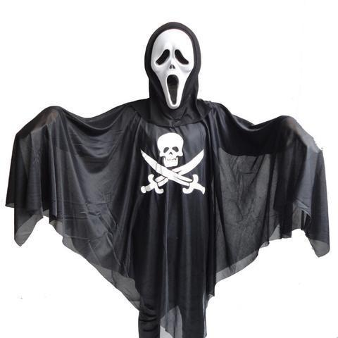 BFJFY Halloween Boy's Ghost Cosplay Costume Sickle Ghost Costume With Mask - bfjcosplayer