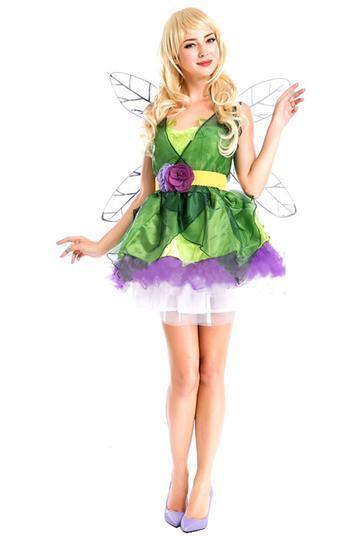 BFJFY Halloween Fairy Dress With Wings Fairy Cosplay Costume For Women - bfjcosplayer