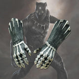 A Pair of Two Black Panther Claws Gloves Cosplay Costume Superhero Gloves Halloween Props - bfjcosplayer