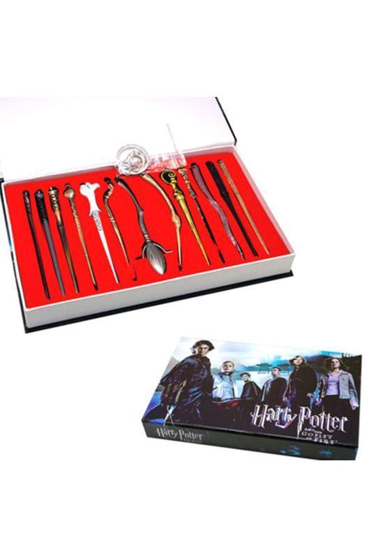 BFJFY Harry Potter Keychain Magic Wand Necklace Accessories Set - bfjcosplayer