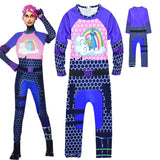 Fortnite Cosplay BRITE BOMBER Costume Bodysuit Halloween Kids - bfjcosplayer