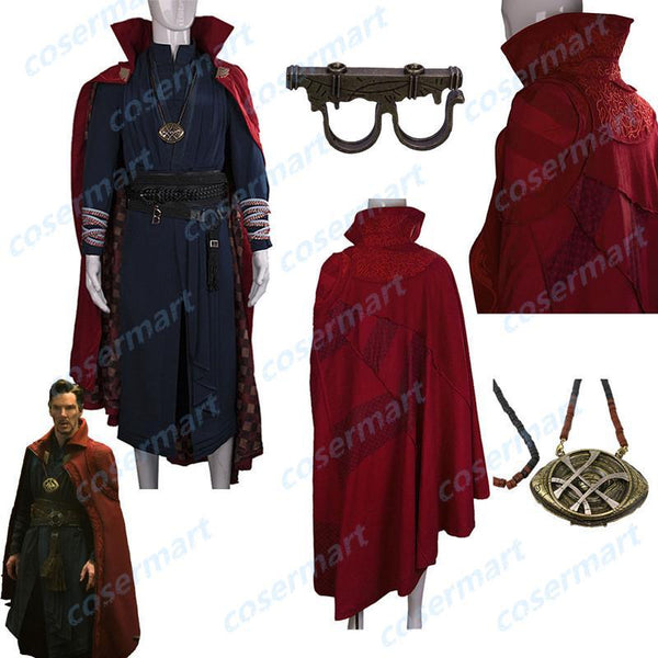2016 Marvel Movie Doctor Strange Costume Cosplay Steve Full Set Costume Robe Halloween Costume - bfjcosplayer