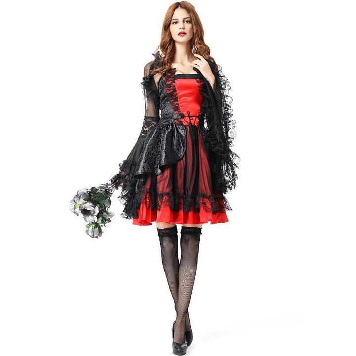 BFJFY Halloween Women Vampire Costume Deluxe Cosplay Costume - bfjcosplayer