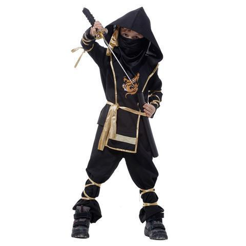 BFJFY Halloween Boy's Martial Arts Ninja Costume Ninja Cosplay Costume - bfjcosplayer