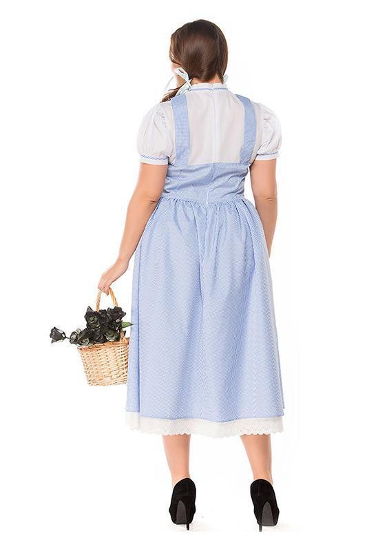 BFJFY Halloween Women's Plus Size Maid Cosplay Costume Outfit - bfjcosplayer