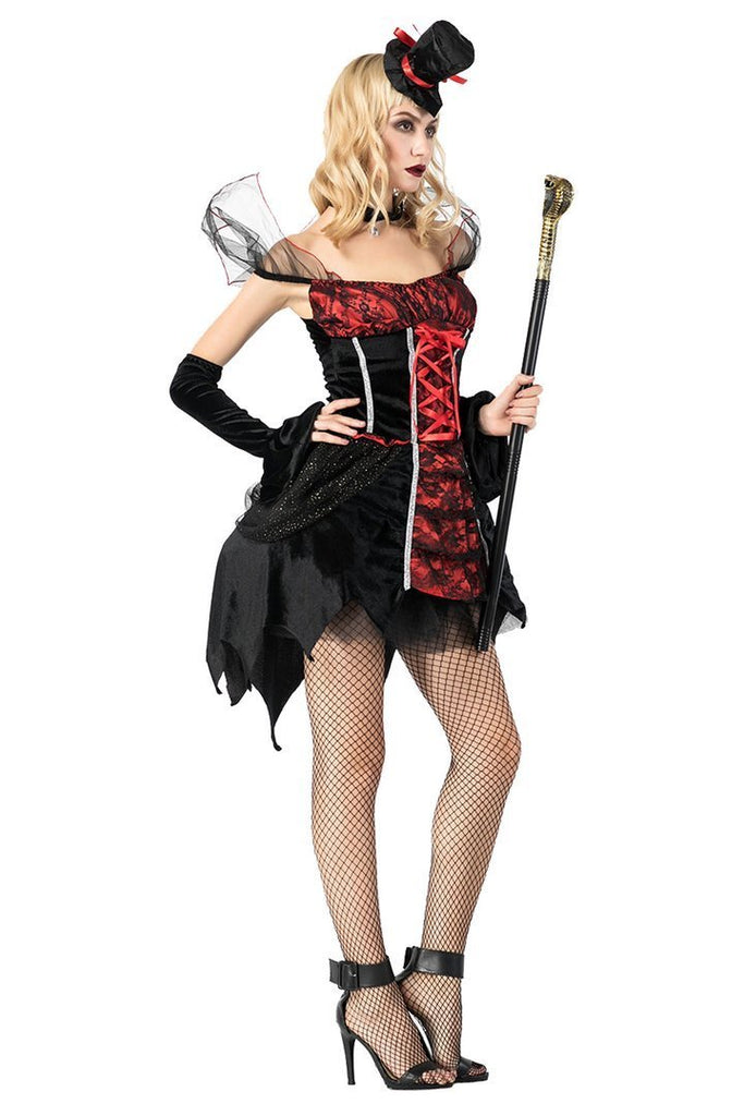 BFJFY Adult Women Vampire Cosplay Costume Outfit Party Dress - bfjcosplayer