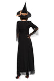 BFJFY Halloween Witch Cosplay Costume Witch Magician Long Dress For Women - bfjcosplayer