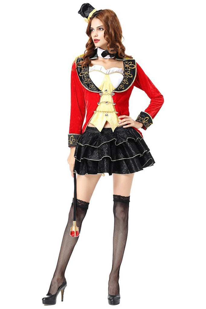 BFJFY Adults Women Females Magician Outfit Costume Uniform Halloween Cosplay - bfjcosplayer