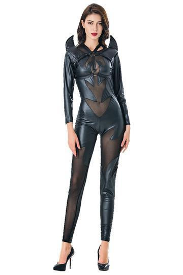 BFJFY Halloween Women Devil Bat Vampire Cosplay Jumsuit Costume - bfjcosplayer