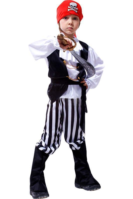 BFJFY Boys Pirate Cosplay Costume For Halloween Carnival - bfjcosplayer