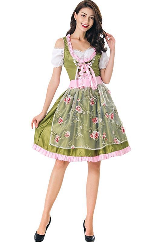 BFJFY Women Halloween Party Oktoberfest Maid Outfit Costume - bfjcosplayer