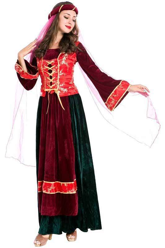 BFJFY Halloween Costume For Women Arabian Princess Dress Outfit - bfjcosplayer