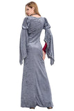 BFJFY Women's Vintage Medieval Dress Satin Gothic Masquerade Dress For Halloween - bfjcosplayer