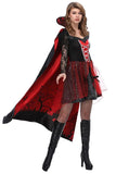 BFJFY Women's Halloween Vampire Countess Cosplay Costume Dress With Robe - bfjcosplayer
