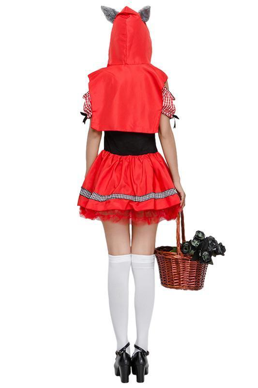 BFJFY Halloween Women's Little Red Riding Hood Fairy Tale Cosplay Costume - bfjcosplayer