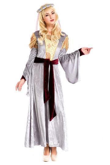 BFJFY Women Vintage Royal Gown Costume Halloween Dress - bfjcosplayer