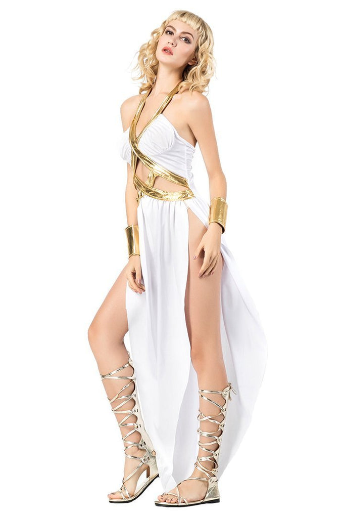 BFJFY Female Women Costume Greece Goddess Athena Dress - bfjcosplayer