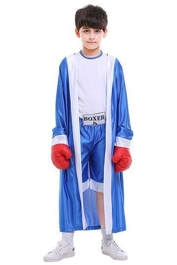BFJFY Halloween Kids Boxer Cosplay Suit Boys Boxing Hooded Costume - bfjcosplayer