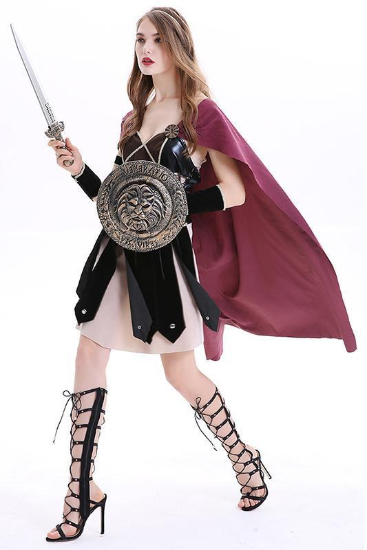 BFJFY Halloween Medieval Knight Gladiator Cosplay Costume For Women - bfjcosplayer