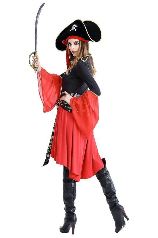 BFJFY Halloween Women's Carribean Pirate Captain Cosplay Costume - bfjcosplayer