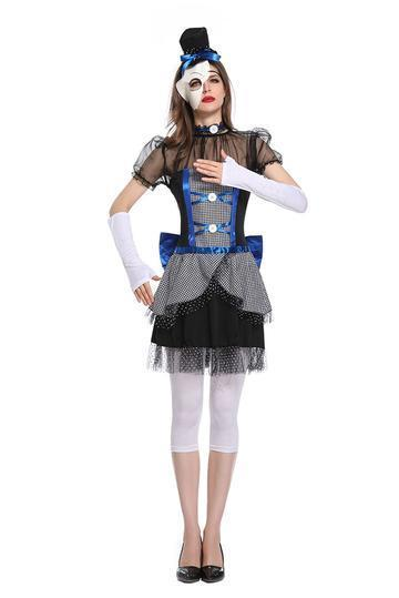BFJFY Women Halloween Ghost Bride Cosplay Costume Devils Clown Costume - bfjcosplayer